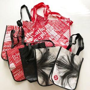 Lot 7 Lululemon Shopping Bags Totes Mix Size